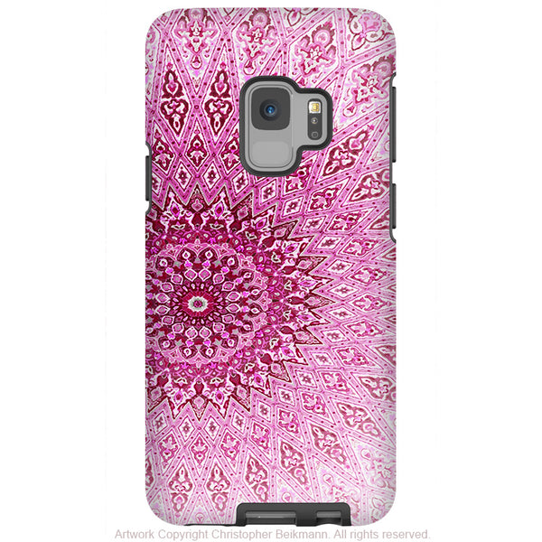Rose Mandala - Galaxy S9 / S9 Plus / Note 9 Tough Case - Dual Layer Protection for Samsung S9 - Pink Zen Case