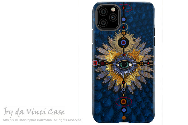 Sapphire Miracle Eye - iPhone 12 / 12 Pro / 12 Pro Max / 12 Mini Tough Case Tough Case - Dual Layer Protection for Apple iPhone XI - Esoteric Art Case