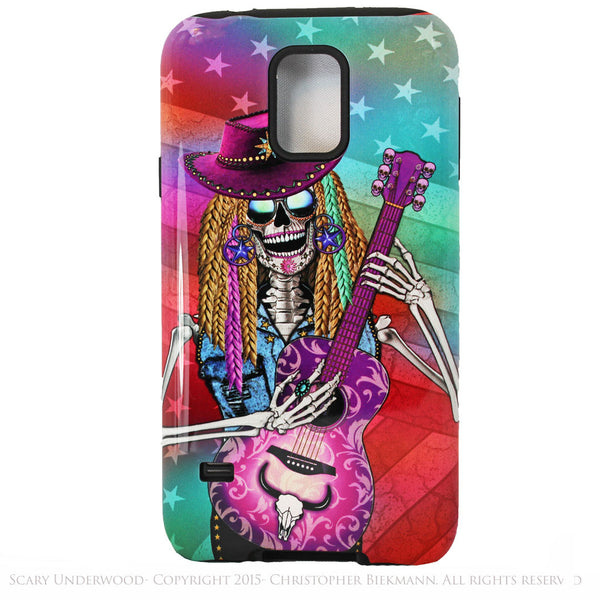 Scary Underwood - Country Girl Sugar Skull - Day of The Dead Art Galaxy S5 case - TOUGH style protective case - Galaxy S5 TOUGH Case - 1