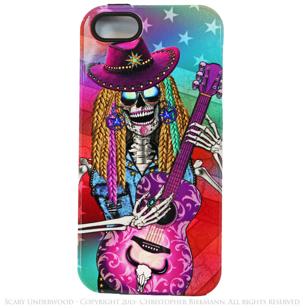 Scary Underwood Country Girl Sugar Skull iPhone 5s SE TOUGH Case - Day of the Dead - Artistic Case For iPhone 5s SE - iPhone 5 TOUGH Case - 1