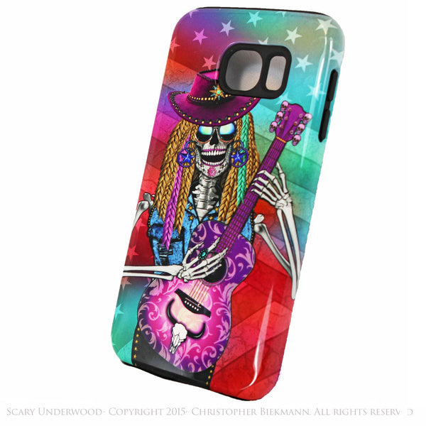 Scary Underwood - Country Girl Sugar Skull - Day of The Dead Art Galaxy S6 case - TOUGH style protective case - Galaxy S6 TOUGH Case - 2