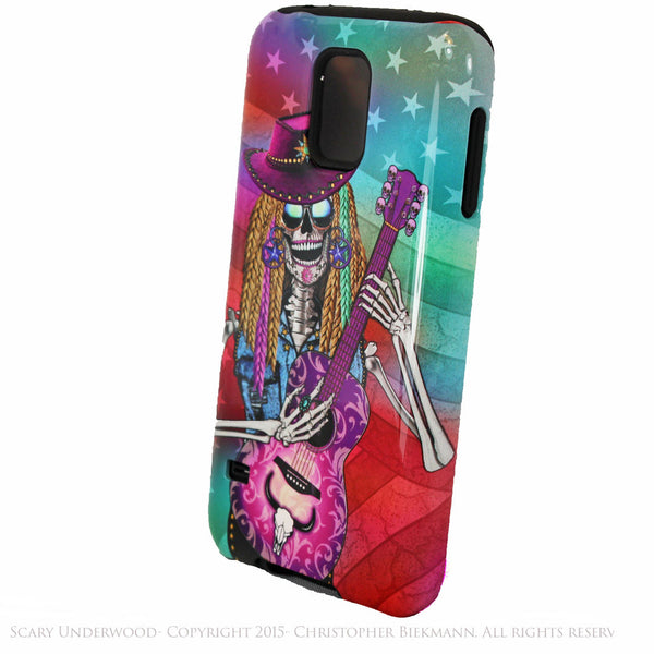 Scary Underwood - Country Girl Sugar Skull - Day of The Dead Art Galaxy S5 case - TOUGH style protective case - Galaxy S5 TOUGH Case - 2
