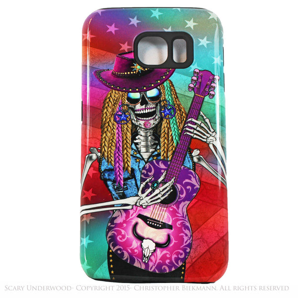 Scary Underwood - Country Girl Sugar Skull - Day of The Dead Art Galaxy S6 case - TOUGH style protective case - Galaxy S6 TOUGH Case - 1