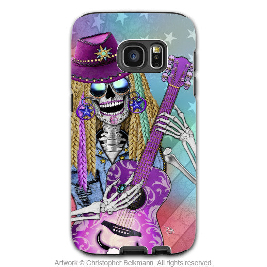 Country Girl Sugar Skull Galaxy S7 Edge Tough Case - Country Western Diva Sugar Skull S7 Edge Tough Case - Scary Underwood - Galaxy S7 EDGE TOUGH Case - 1