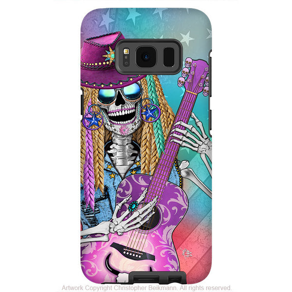 Country Girl Music Skull - Artistic Samsung Galaxy S8 PLUS Tough Case - Dual Layer Protection - scary underwood - Fusion Idol Arts