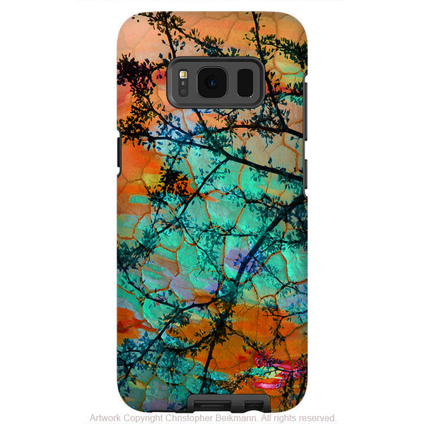 Colorful Sunset Inspired - Artistic Samsung Galaxy S8 Tough Case - Dual Layer Protection - southwest sunset - Fusion Idol Arts