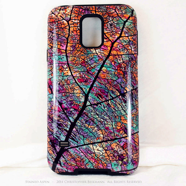 Premium Aspen Leaf Galaxy S5 case - Stained Aspen - Artistic Nature S5 Tough Case - Galaxy S5 TOUGH Case - 1