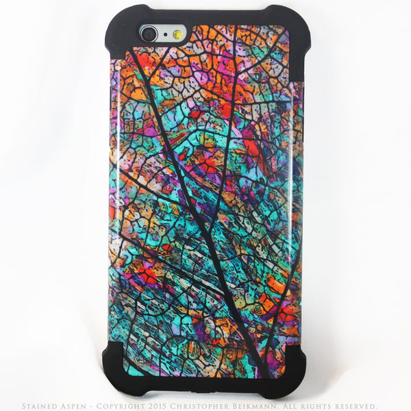 Colorful Aspen Leaf iPhone 6 Plus - 6s Plus Case - Stained Aspen - SUPER BUMPER Case - iPhone 6 Plus SUPER BUMPER - 1