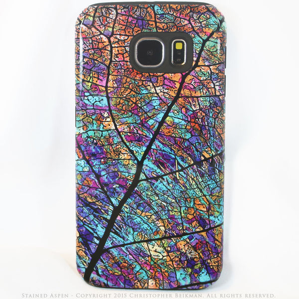 Colorful Aspen Leaf Galaxy S6 Tough Case - Stained Aspen - Abstract Galaxy S6 case - Galaxy S6 TOUGH Case - 1