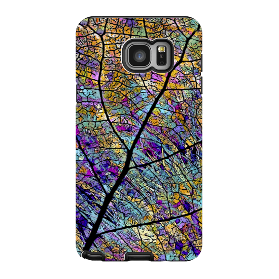 Aspen Leaf Galaxy NOTE 5 Case - Stained Aspen - Colorful Abstract Art Samsung Galaxy NOTE 5 Tough Case - Galaxy NOTE 5 TOUGH Case - 1