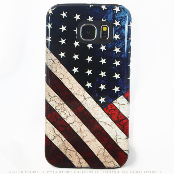 American Flag Galaxy S6 Tough Case - Stars & Stripes - USA Flag S6 case - Galaxy S6 TOUGH Case - 1