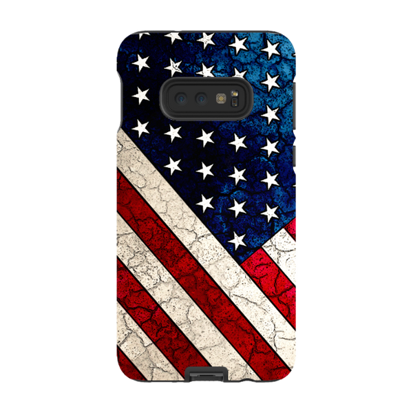Stars and Stripes - Galaxy S10 / S10 Plus / S10E Tough Case - Dual Layer Protection for Samsung S10 - U.S.A - American Flag Case