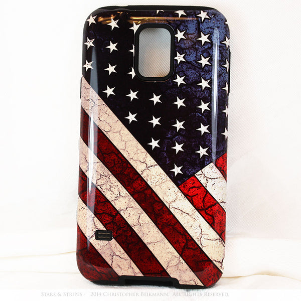 "American Flag Galaxy S5 case - TOUGH Style Protective Case - ""Stars & Stripes"" - Galaxy S5 TOUGH Case - 1"