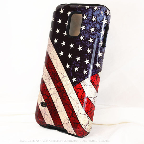 "American Flag Galaxy S5 case - TOUGH Style Protective Case - ""Stars & Stripes"" - Galaxy S5 TOUGH Case - 2"