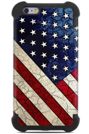 Vintage American Flag iPhone 6 Plus 6s Plus Case - Stars & Stripes - US Flag iPhone 6 Plus SUPER BUMPER Case - iPhone 6 Plus SUPER BUMPER - 1