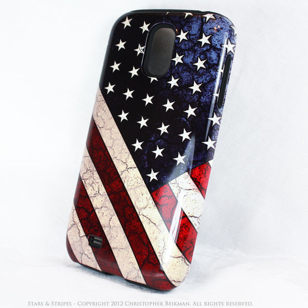"American Flag Galaxy S4 case - TOUGH Style Protective Case - ""Stars & Stripes"" - Galaxy S4 TOUGH Case - 2"