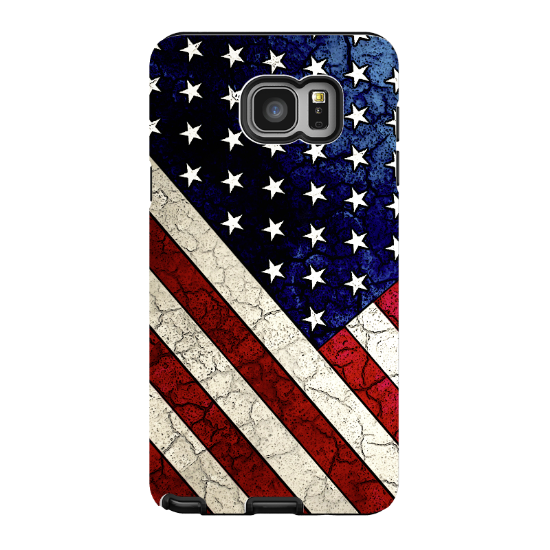American Flag Galaxy NOTE 5 Case - Stars & Stripes - USA Vintage Textured Flag Art NOTE 5 Tough Case - Galaxy NOTE 5 TOUGH Case - 1