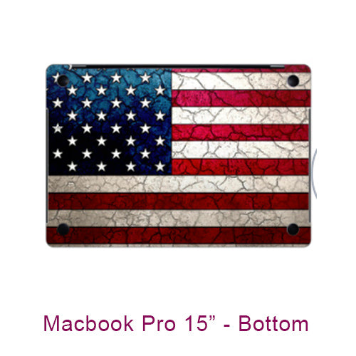 Stars and Stripes - Macbook Pro 15 inch Laptop Vinyl Skin Decal