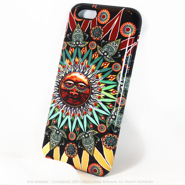 Sun Shaman iPhone 6 6s Plus TOUGH Case - Tribal Sun Face Art - Artistic Case for iPhone 6 6s Plus - iPhone 6 6s Plus Tough Case - 2