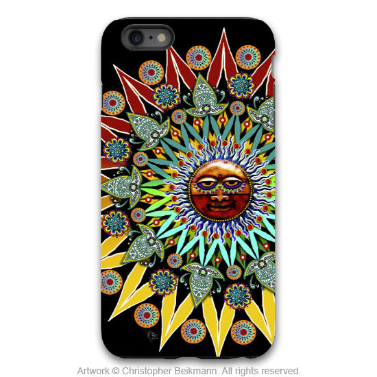 Sun Shaman iPhone 6 6s Plus TOUGH Case - Tribal Sun Face Art - Artistic Case for iPhone 6 6s Plus - iPhone 6 6s Plus Tough Case - 1