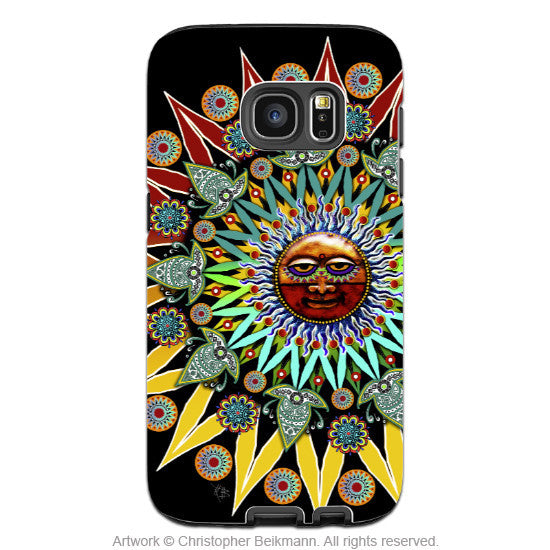 Sun Shaman Galaxy S7 Edge Tough Case - Colorful Southwest Inspired Celestial Tribal Case for Galaxy S7 - Galaxy S7 EDGE TOUGH Case - 1