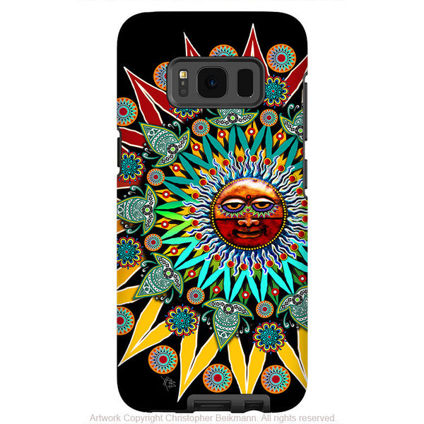 Tribal Aztec Sun - Artistic Samsung Galaxy S8 PLUS Tough Case - Dual Layer Protection - sun shaman - Fusion Idol Arts