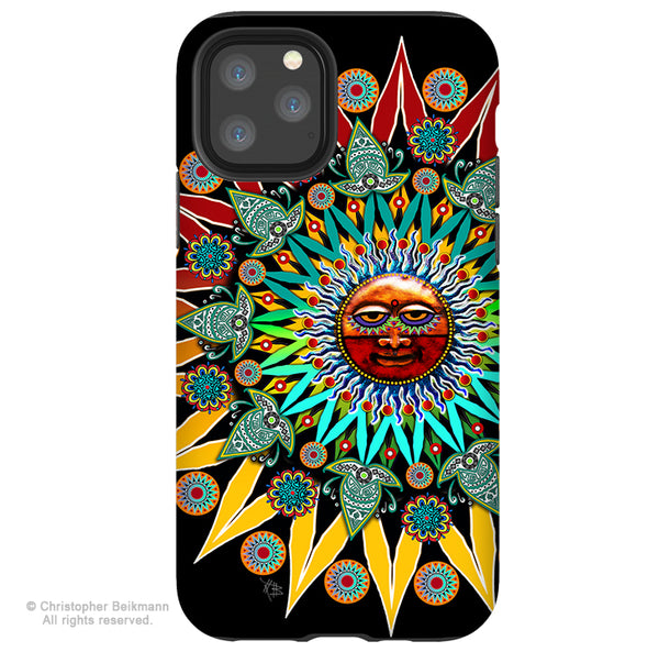 Sun Shaman - iPhone 11 / 11 Pro / 11 Pro Max Tough Case - Dual Layer Protection for Apple iPhone XI - Tribal Sun Case