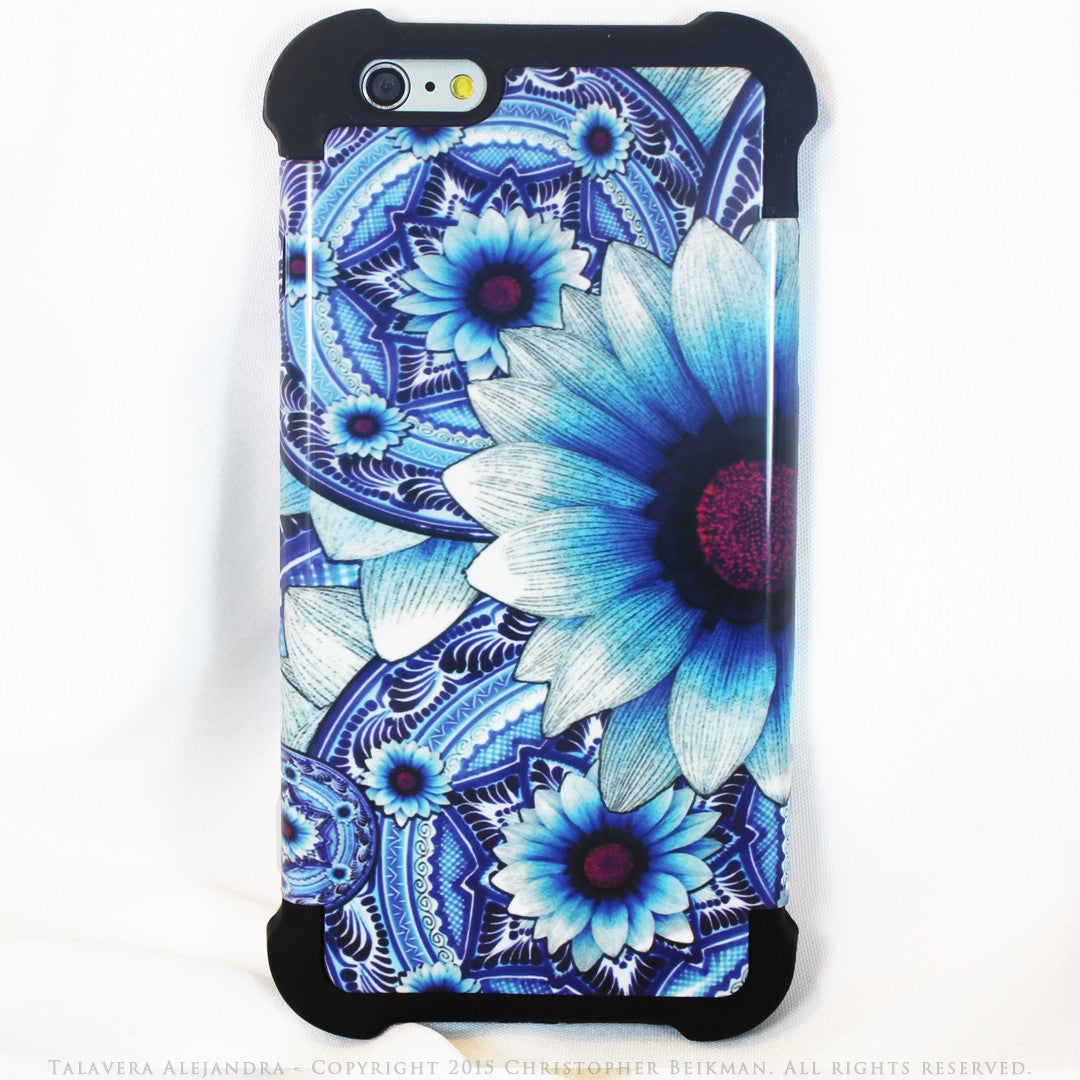 Artistic Blue Floral Iphone 6 Plus 6s Plus Case By Da Vinci Case