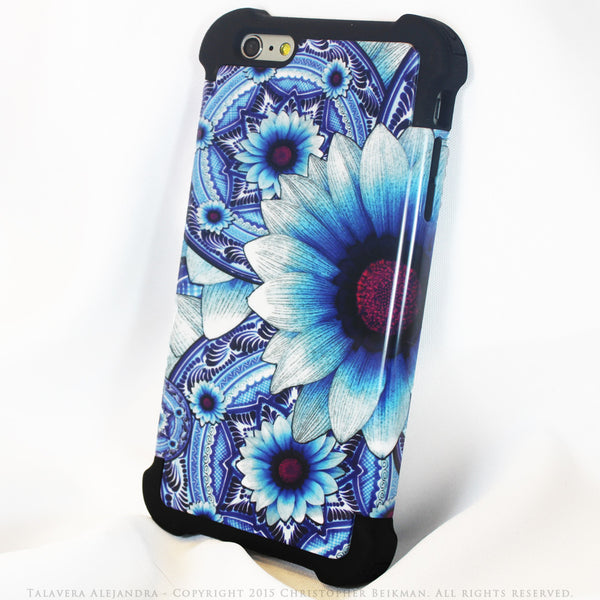 Blue Floral iPhone 6 Plus Case - Talavera Alejandra - iPhone 6 Plus and 6s Plus SUPER BUMPER Case - iPhone 6 Plus SUPER BUMPER - 2