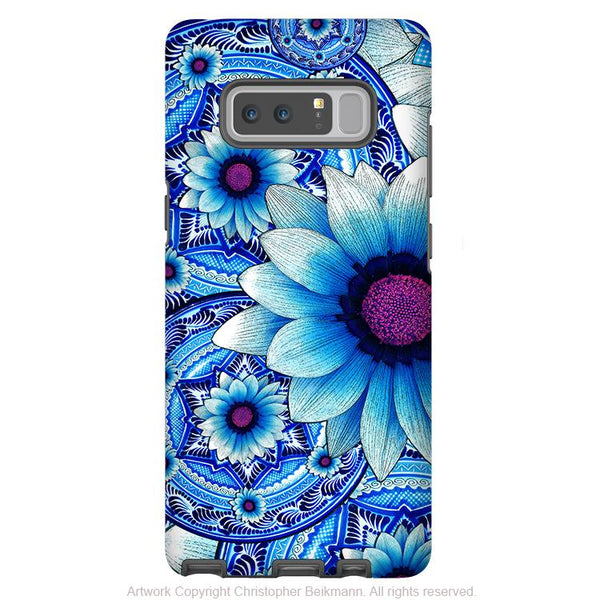 Blue Mexican Floral Galaxy Note 8 Tough Case - Dual Layer Protection - Talavera Alejandra - Paisley Case for Samsung Galaxy Note 8