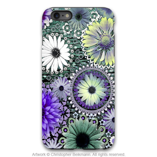 Purple Floral iPhone 6 6s Plus TOUGH Case - Tidal Bloom - Paisley Floral Art - Artistic Case for iPhone 6 6s Plus - iPhone 6 6s Plus Tough Case - 1