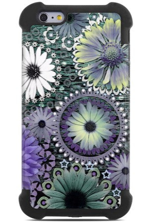 Floral iPhone 6 Plus - 6s Plus Case - Tidal Bloom - Purple and Green Floral iPhone 6 Plus SUPER BUMPER Case - iPhone 6 Plus SUPER BUMPER - 1