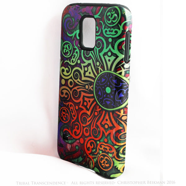 "Artistic Tribal Mandala Galaxy S5 case - ""Tribal Transcendence"" - Colorful S5 Tough Case - Galaxy S5 TOUGH Case - 2"