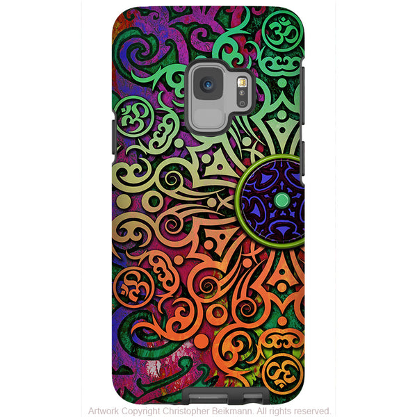 Tribal Mandala - Galaxy S9 / S9 Plus / Note 9 Tough Case - Dual Layer Protection for Samsung S9 - Colorful Om Case