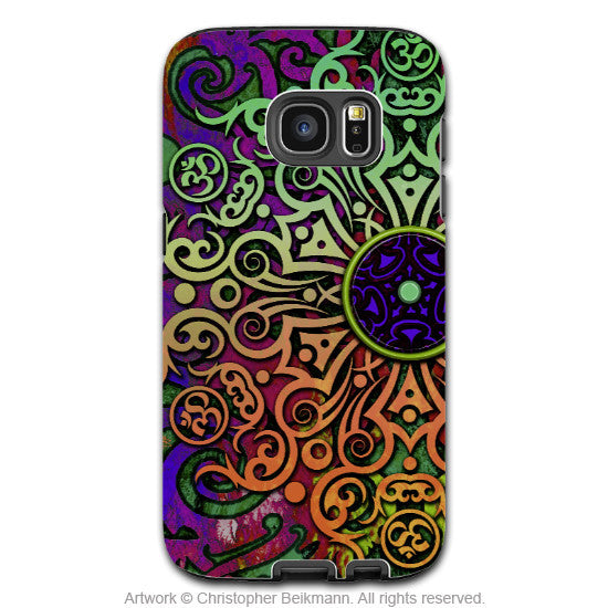 Tribal Mandala Galaxy S7 Edge Tough Case - Tribal Transcendence - Colorful Galaxy S7 Edge Tough Case - Galaxy S7 EDGE TOUGH Case - 1