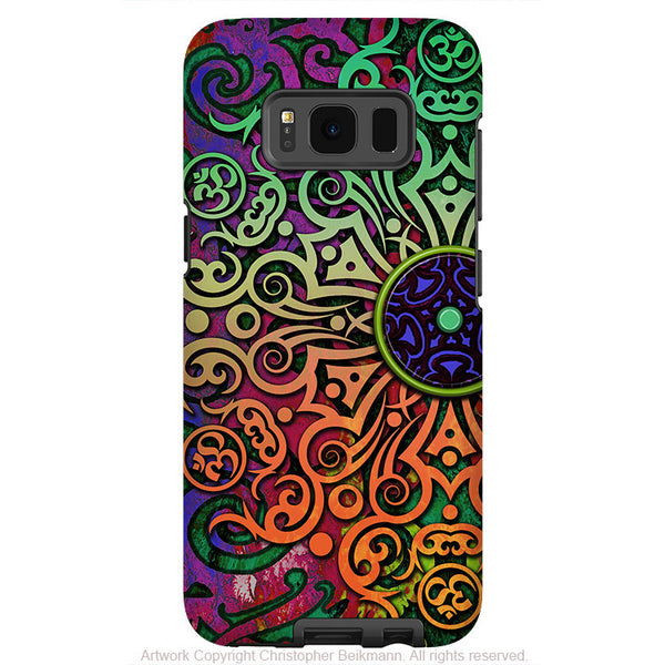 Tribal Mandala Art - Artistic Samsung Galaxy S8 Tough Case - Dual Layer Protection - tribal transcendence - Fusion Idol Arts