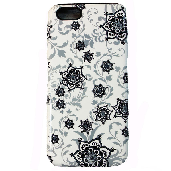 Victorian Paisley iPhone 6 6s Plus TOUGH Case - Victoriana - Black and White Paisley Floral - Artistic iPhone 6 6s Plus case - iPhone 6 6s Plus Tough Case - 1