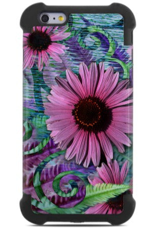 Colorful Floral iPhone 6 Plus - 6s Plus Case - Wonder Blossom - Purple and Green Floral iPhone 6 Plus SUPER BUMPER Case - iPhone 6 Plus SUPER BUMPER - 1