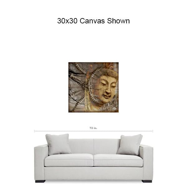 Earth Tone Kwan Yin Buddhist Goddess Art Canvas - A Cry Is Heard - Premium Canvas Gallery Wrap - Fusion Idol Arts - New Mexico Artist Christopher Beikmann