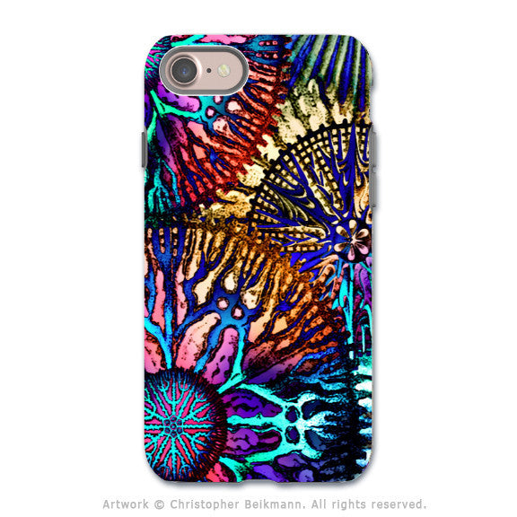Colorful Abstract Coral - Artistic iPhone 7 Tough Case - Dual Layer Protection - Cosmic Star Coral - iPhone 7 Tough Case - 1