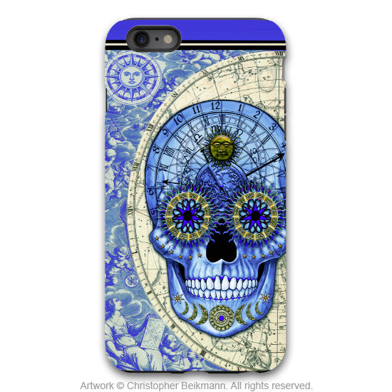 Blue Steampunk Skull iPhone 6 6s Plus Case - Astrologiskull - Astrology skull case for iPhone 6Plus - iPhone 6 6s Plus Tough Case - 1