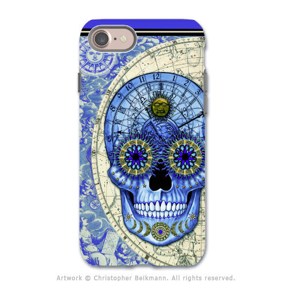 Astrological Steampunk Skull - Artistic iPhone 7 Tough Case - Dual Layer Protection - Astrologiskull - iPhone 7 Tough Case - 1
