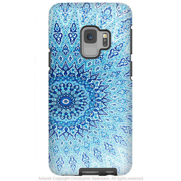 Cloud Mandala - Galaxy S9 / S9 Plus / Note 9 Tough Case - Dual Layer Protection for Samsung S9 - Blue Zen Case