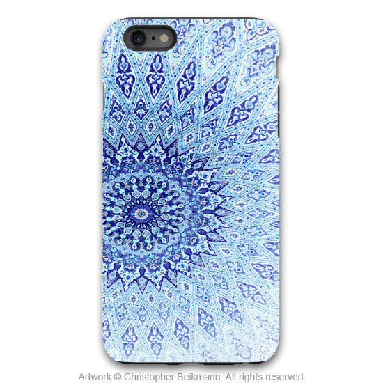 Blue Mandala iPhone 6 6s Plus TOUGH Case - Artistic Zen Inspired iPhone 6Plus case - Cloud Mandala - iPhone 6 6s Plus Tough Case - 1