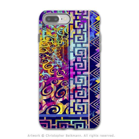 Colorful Modern Art - Artistic iPhone 7 PLUS Tough Case - Dual Layer Protection - Nouveau Boom - iPhone 7 Plus Tough Case - Fusion Idol Arts - New Mexico Artist Christopher Beikmann