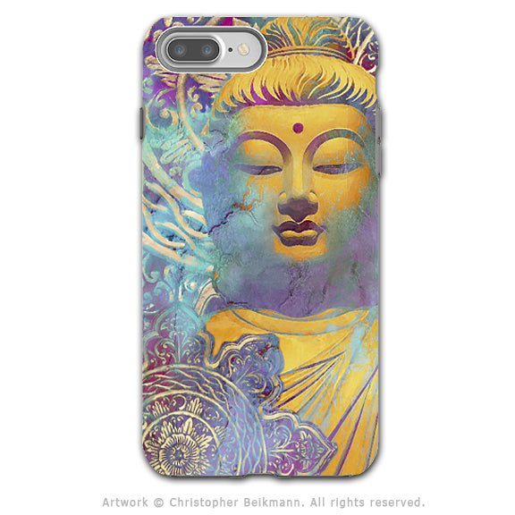 Colorful pastel Buddha art - Artistic iPhone 8 Plus Tough Case - Dual Layer Protection - Light of Truth