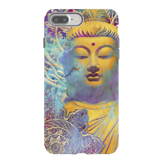 Colorful pastel Buddha art - Artistic iPhone 7 Plus Tough Case - Dual Layer Protection - Light of Truth - iPhone 7 Plus Tough Case - Fusion Idol Arts - New Mexico Artist Christopher Beikmann