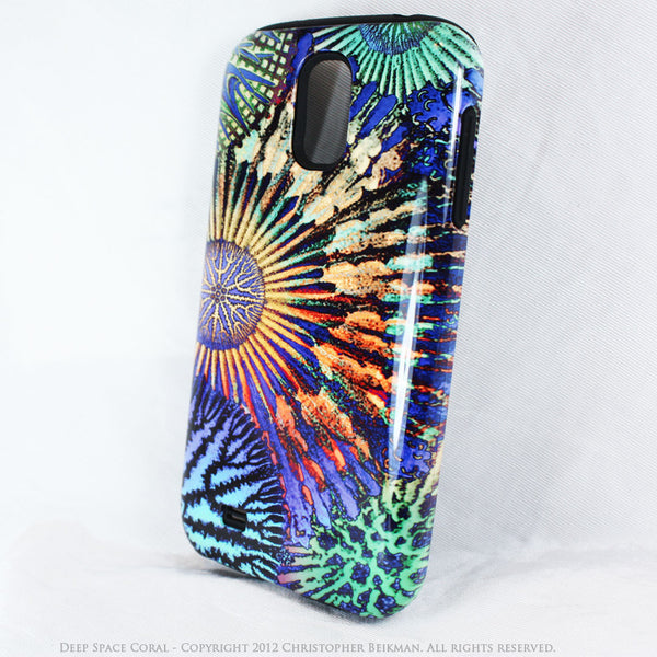 "Abstract Ocean Coral Galaxy S4 case - TOUGH Style Protective Case - Artwork ""Deep Space Coral"" - Galaxy S4 TOUGH Case - 2"