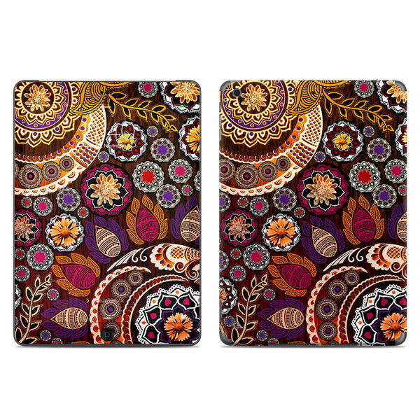 Autumn Mehndi - Fall Color Paisley Floral - iPad AIR 2 Vinyl Skin Decal - iPad AIR 2 - SKIN - 1