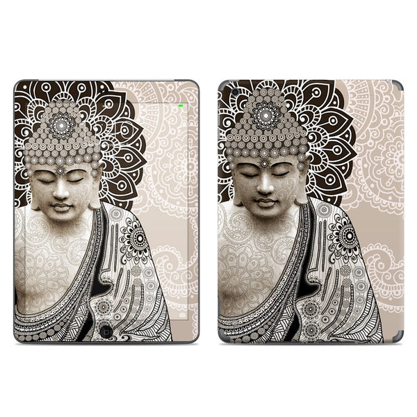 Meditation Mehndi - Paisley Buddha - Zen iPad AIR Vinyl Skin Decal - iPad AIR 1 - SKIN - 1